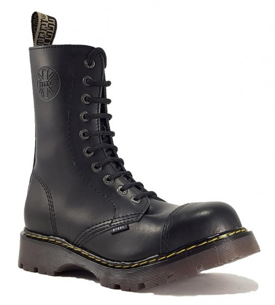 Steel Boots 10 Eyelets Black Air