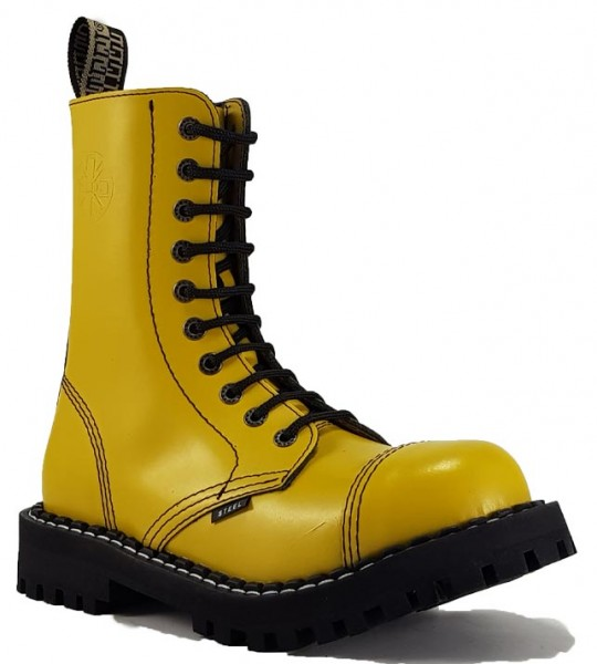 Steel Boots 10 Eyelets Yellow