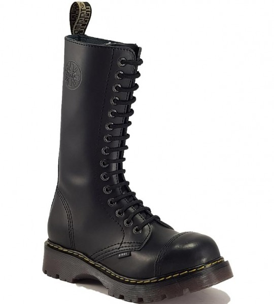 Steel Boots 15 Eyelets Black Air