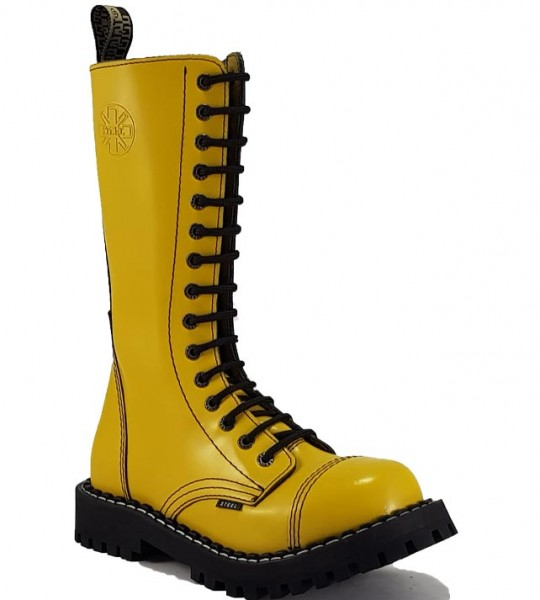 Steel Boots 15 Eyelets Yellow