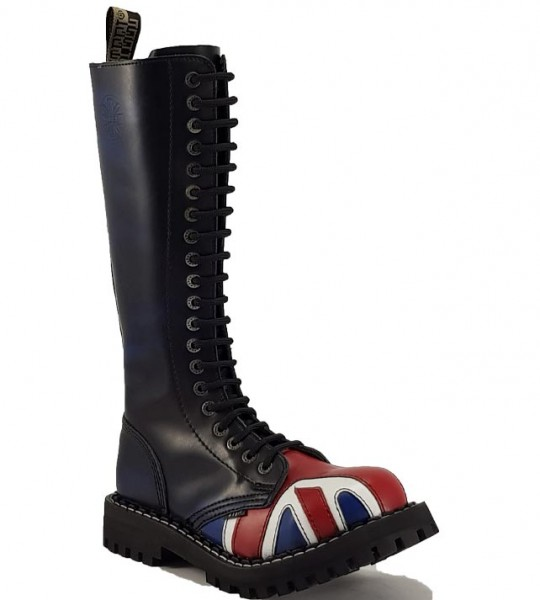 Steel Boots 20 Eyelets British Flag