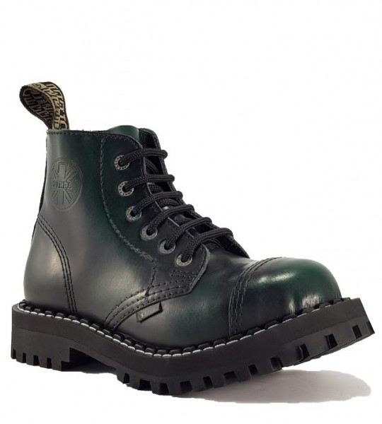 Steel Boots 6 Eyelets Green Rub Off