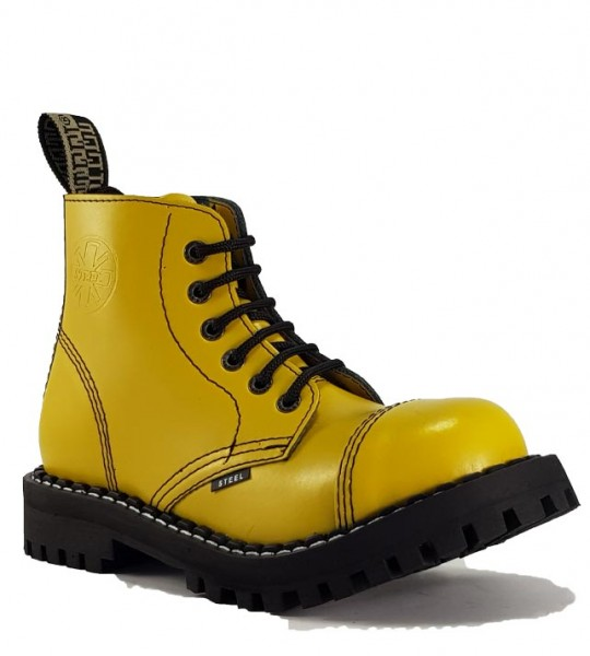 Steel Boots 6 Eyelets Yellow
