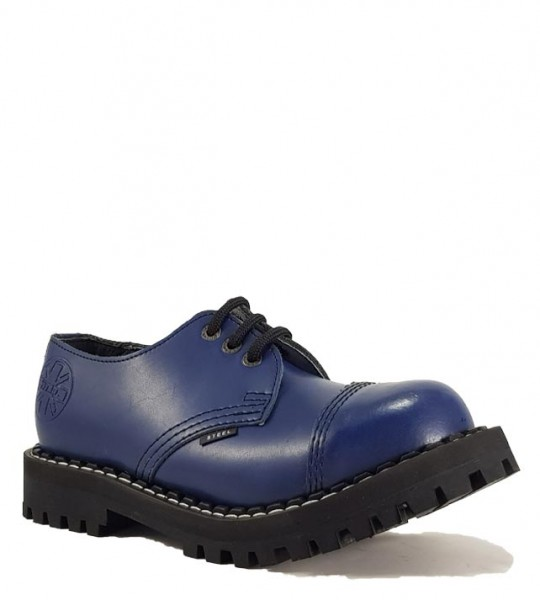 Steel Shoes 3 Eyelets Blue