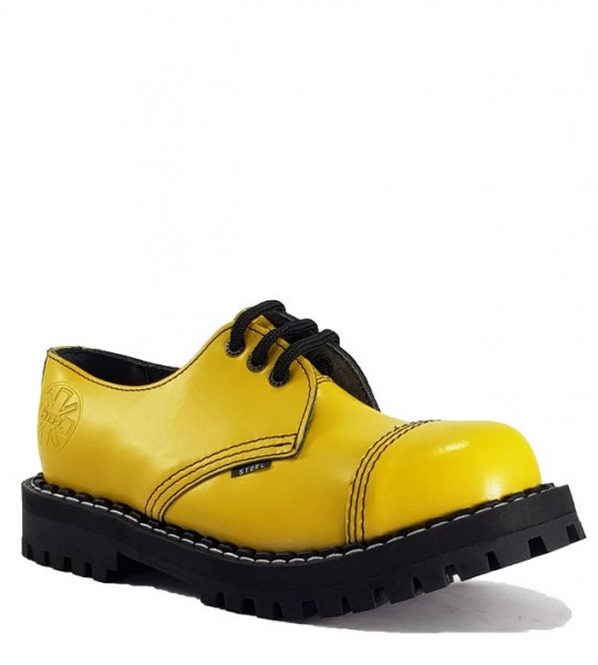 Steel Shoes 3 Eyelets Yellow