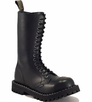Steel Boots 15 Eyelets Black