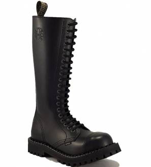 Steel Boots 20 Eyelets Black