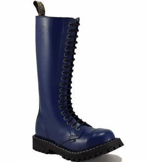 Steel Boots 20 Eyelets Blue