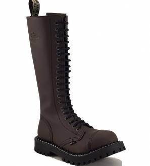 Steel Boots 20 Eyelets Brown