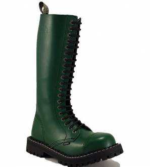 Steel Boots 20 Eyelets Green