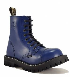 Steel Boots 8 Eyelets Blue