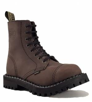 Steel Boots 8 Eyelets Brown