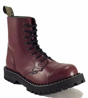 Steel Boots 8 Eyelets Burgundy