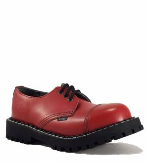 Steel Shoes 3 Eyelets Red