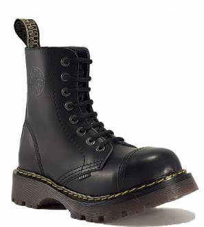Steel Boots 8 Eyelets Black Air